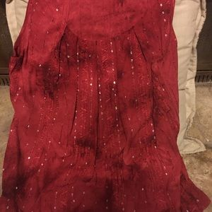 """Women's Size L """"RED"""" Blouse"""